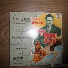 Disques de vinyle: EL MISTERIO DEL MONO ROJO. BANDA SONORA. EP. GUUS JANSEN (ORGANO). DECCA. Lote 41306644
