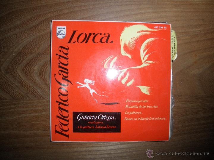 GABRIELA ORTEGA RECITA A FEDERICO GARCIA LORCA. PRECIOSA Y EL AIRE + 3.EP. PHILIPS 1960 (Música - Discos de Vinilo - EPs - Música Infantil)