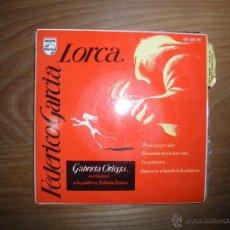 Discos de vinilo: GABRIELA ORTEGA RECITA A FEDERICO GARCIA LORCA. PRECIOSA Y EL AIRE + 3.EP. PHILIPS 1960. Lote 41307929