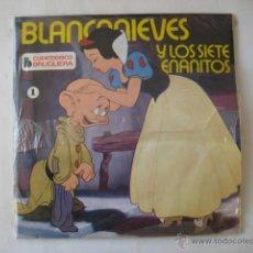 Discos de vinilo: ANTIGUO VINILO : BLANCANIEVES Y LOS SIETE ENANITOS Y PETER PAN. 2 CUENTOS TEXTO Y 2 SINGLES. Lote 41309813