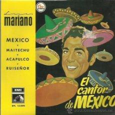 Discos de vinilo: MARIANO EP SELO LA VOZ DE SU AMO AÑO 1958. Lote 41312210