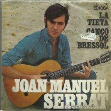 Discos de vinilo: JOAN MANUEL SERRAT EP SELLO EDIGSA AÑO 1967 EN CATALAN. Lote 41312254