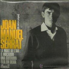 Discos de vinilo: JOAN MANUEL SERRAT EP SELLO EDIGSA AÑO 1965 EN CATALAN. Lote 41312262