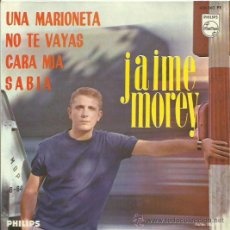 Discos de vinilo: JAIME MOREY EP SELLO PHILIPS AÑO 1965. Lote 41312276