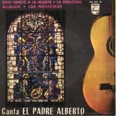 Discos de vinilo: EL PADRE ALBERTO, EP, DIOS VENCIÓ A LA MUERTE + 3, AÑO 1964. Lote 41318428