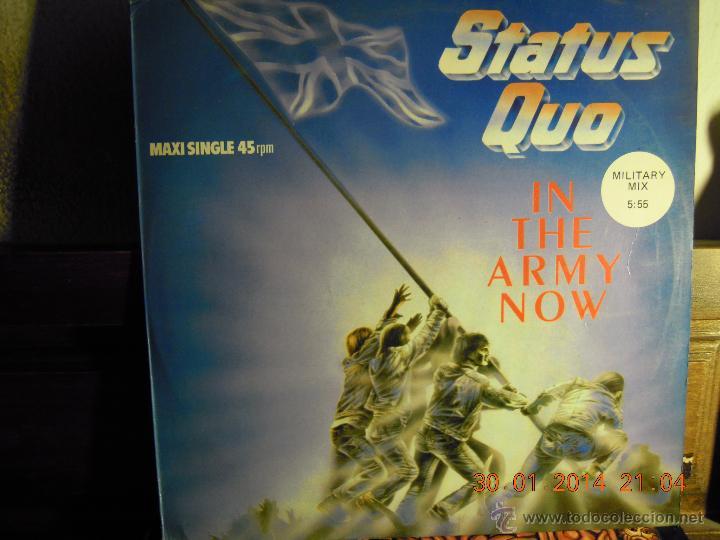 UXV STATUS QUO - MAXI SINGLE - IN THE ARMY NOW - EDITADO EN ESPAÑA 1986 - MILITARY MIX CLASSIC ROCK (Música - Discos de Vinilo - Maxi Singles - Rock & Roll)