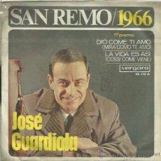 Discos de vinilo: JOSE GUARDIOLA EP SELLO VERGARA AÑO 1966. Lote 41347460