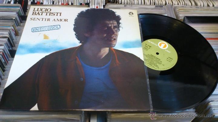 LUCIO BATTISTI SENTIR AMOR EN ESPAÑOL LP DISCO DE VINILO (Música - Discos de Vinilo - Maxi Singles - Canción Francesa e Italiana)