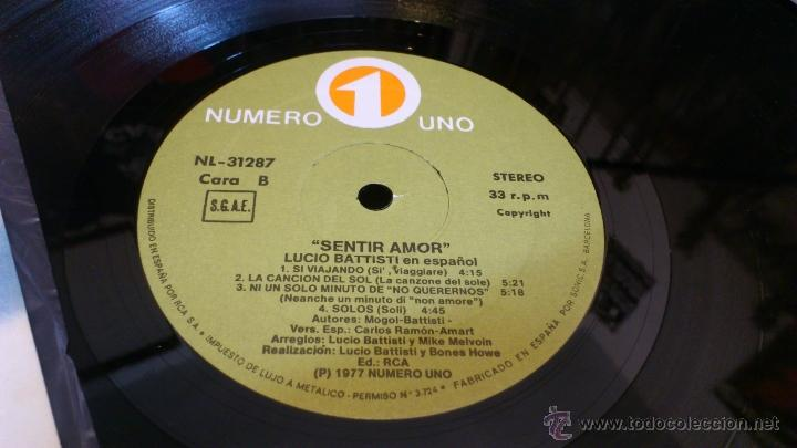 Discos de vinilo: Lucio Battisti Sentir amor En español lp disco de vinilo - Foto 4 - 41350174