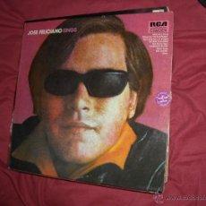 Discos de vinilo: JOSE FELICIANO LP SINGS RCA 1972 GERMANY VER FOTO ADICIONAL. Lote 41356634