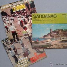 Discos de vinilo: 12 SARDANAS 1.967 - LOTE 3 VINILOS E.P. 45 R.P.M. (VER FOTO). Lote 41356755