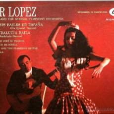 Discos de vinilo: LP PILAR LOPEZ , HER DANCERS AND SPANISH SYMPHONY ORCHESTRA (ALBENIZ + LOPEZ TEJERA ) . Lote 41357954
