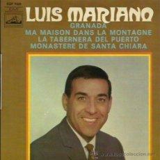 Discos de vinilo: LUIS MARIANO EP SELLO LA VOZ DE SU AMO EDITADO EN FRANCIA. Lote 41347493