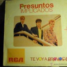 Discos de vinilo: UXV PRESUNTOS IMPLICADOS MAXISINGLE TE VOY A PROVOCAR - ABSURDA CONFUSION RCA 1985 POP ROCK ELECTRON. Lote 41364583