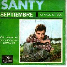 Discos de vinilo: SANTY / SEPTIEMBRE. Lote 41374721