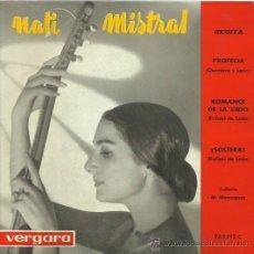 Discos de vinilo: NATI MISTRAL EP SELLO VERGARA AÑO 1962. Lote 41381973