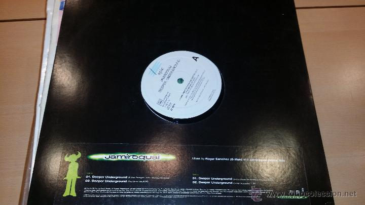 JAMIROQUAI- DEEPER UNDERGROUND (Música - Discos de Vinilo - Maxi Singles - Pop - Rock Extranjero de los 90 a la actualidad)