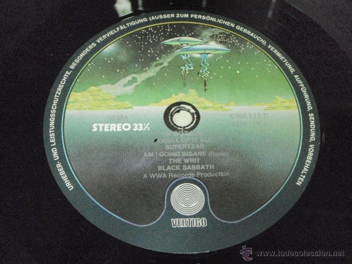 Discos de vinilo: BLACK SABBATH - SABOTAGE 1º975- GERMANY LP VERTIGO - Foto 5 - 57715546