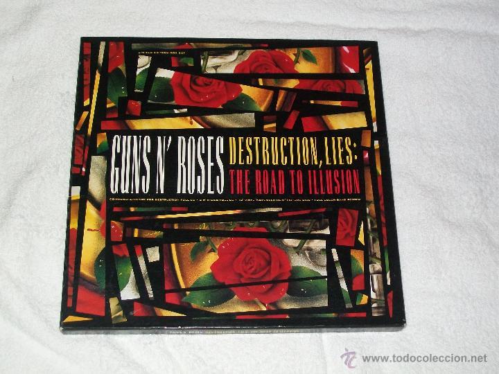 GUNS N' ROSES - DESTRUCTION, LIES : THE ROAD TO ILLUSION BOX GED 24434 (Música - Discos - LP Vinilo - Heavy - Metal)