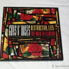 Discos de vinilo: GUNS N' ROSES - DESTRUCTION, LIES : THE ROAD TO ILLUSION BOX GED 24434. Lote 41394005
