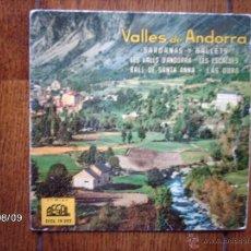 Discos de vinilo: COBLA GIRONA - VALLES DE ANDORRA - LES VALLS D´ANDORRA + 3. Lote 181357248