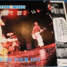 Discos de vinilo: THE WHO LP AMERICAN TOUR 1973 VER IMAGENES 1989. Lote 41398423