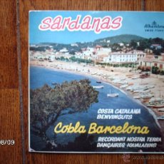Discos de vinilo: COBLA BARCELONA -TENORA RAMON PLA - SARDANAS - COSTA CATALANA + 3. Lote 41398664