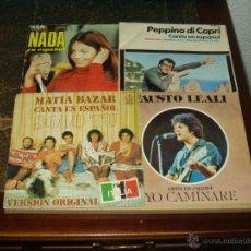 Discos de vinilo: LOTE 4 SINGLES ITALIANOS CANTANDO EN ESPAÑOL. Lote 41414761