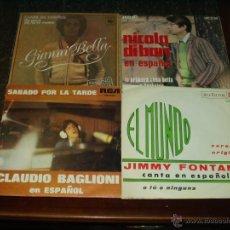 Discos de vinilo: LOTE 4 SINGLES ITALIANOS CANTANDO EN ESPAÑOL. Lote 41414811