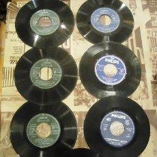 Discos de vinilo: LOTE DE 7 DISCOS VINILO SIN FUNDA DE 45 REVOLUCIONES VARIADOS. Lote 41416510