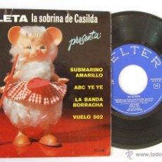 Discos de vinilo: EP VIOLETA SOBRINA DE CASILDA CON COVER YELLOW SUBMARINE BEATLES 4 ROS ALICIA GRANADOS DE LA TORRE. Lote 41420810