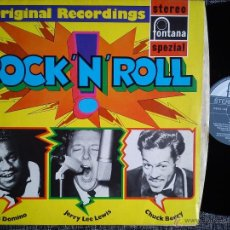 Discos de vinilo: ROCK'N ROLL. FAST DOMINO. JERRY LEE LEWIS. CHUCK BERRY. LP FONTANA 701 629 WPY. GERMANY.. Lote 41423509