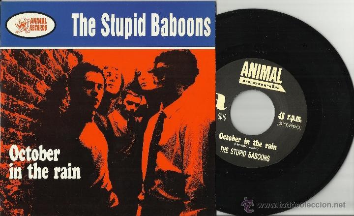 THE STUPID BABOONS EP OCTOBER IN THE RAIN ESPAÑA 1994 (Música - Discos - Singles Vinilo - Grupos Españoles de los 90 a la actualidad)
