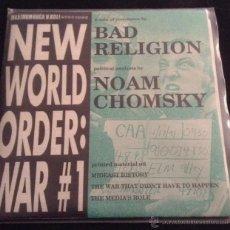 Discos de vinilo: EP SINGLE VINILO BAD RELIGION NEW WORLD ORDER WAR #1 MAXIMUM ROCKNROLL PUNK ROCK HARDCORE. Lote 41437989