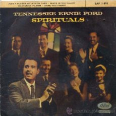 Discos de vinilo: TENNESSEE ERNIE FORD / JUST A CLOSER WALK WIT THEE / PEACE IN THE VALLEY + 2 (EP ESPAÑOL 1960). Lote 41438020