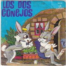Discos de vinilo: CUENTOS INFANTILES: LOS DOS CONEJOS. SINGLE DEL SELLO COLUMBIA DEL AÑO 1969. Lote 41441426
