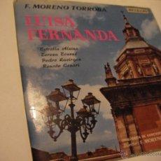 Discos de vinilo: ANTIGUO LP MORENO TORROBA - LUISA FERNANDA - ENVIO GRATIS A ESPAÑA. Lote 41446175