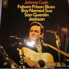 Discos de vinilo: JOHNNY CASH - FOLSOM PRISON BLUES - EP 4 TRACKS.. Lote 41449485