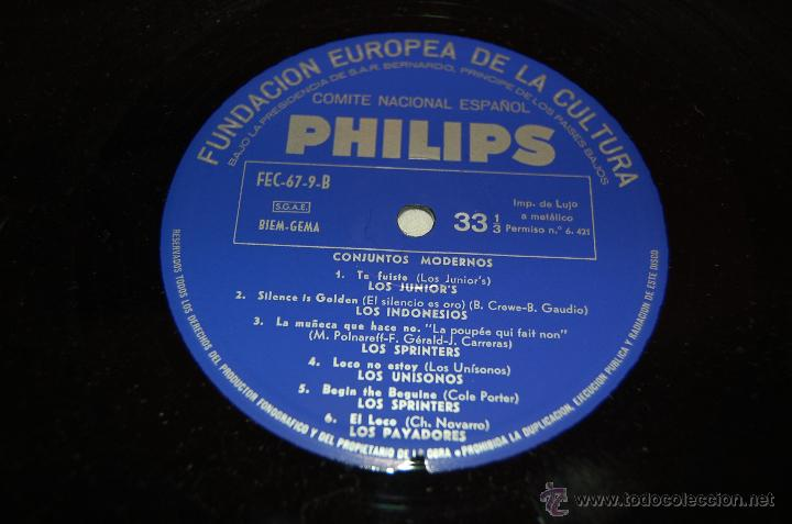 Discos de vinilo: LOS INDONESIOS-LOS PAYADORES-LOS UNISONOS-KINITA....... - Foto 3 - 41457782