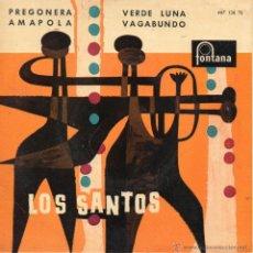 Discos de vinilo: SANTOS, EP, AMAPOLA + 3, AÑO 1960. Lote 41461117