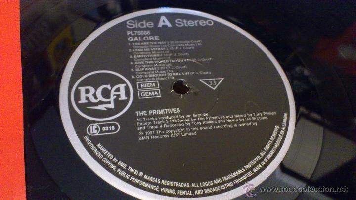 Discos de vinilo: Primitives Galore lp Disco de vinilo 1991 RCA - Foto 3 - 41466308