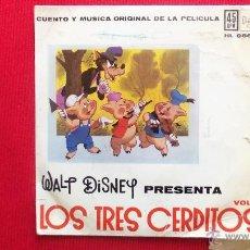 Discos de vinilo: LOS TRES CERDITOS - VOLUMEN 1. Lote 41466984