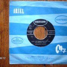 Discos de vinilo: HERMANOS CARRION - TODO A SU TIEMPO + DESDE MI VENTANA ( THE BEATLES ) - EDIC. MEXICANA. Lote 41468241