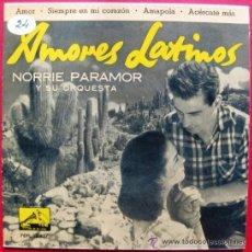 Discos de vinilo: NORRIE PARAMOR Y SU ORQUESTA - AMORES LATINOS - EP LA VOZ DE SU AMO 1960 BPY. Lote 41469103