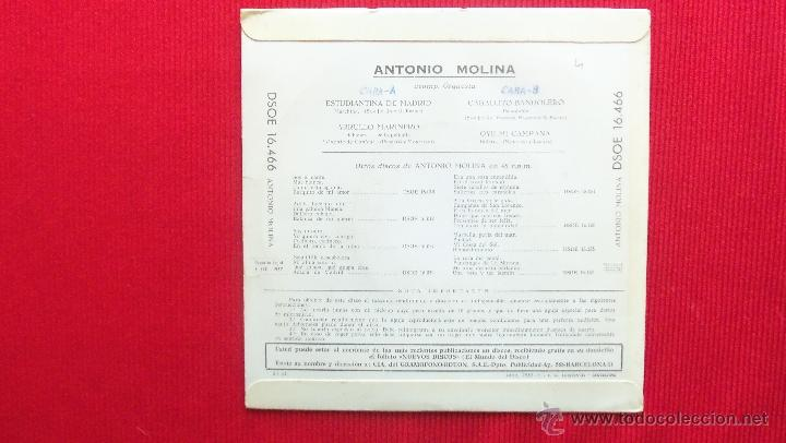 Discos de vinilo: ANTONIO MOLINA - Foto 2 - 41470781