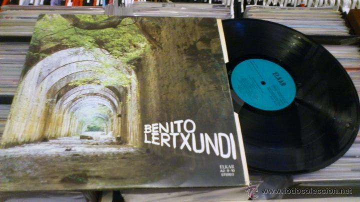 BENITO LERTXUNDI 2 LP DISCO DE VINILO DOBLE ELKAR (Música - Discos - LP Vinilo - Solistas Españoles de los 70 a la actualidad)