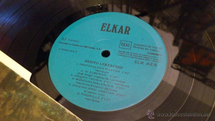 Discos de vinilo: Benito lertxundi 2 LP disco de vinilo doble Elkar - Foto 7 - 41471222