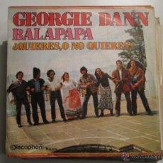 Discos de vinilo: GEORGIE DANN - ¿QUIERES O NO QUIERES? BOSSA. Lote 41472695