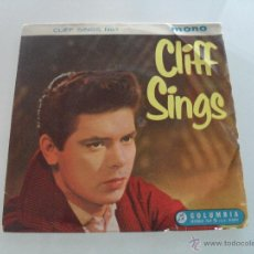 Discos de vinilo: CLIFF RICHARD AND THE SHADOWS - CLIFF SINGS - MADE IN ENGLAND. Lote 41472808
