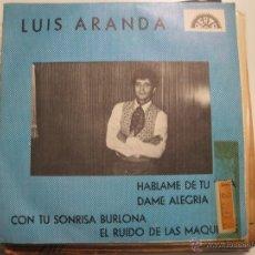 Discos de vinilo: LUIS ARANDA - HABLAME DE TU VIDA EP BERTA. Lote 41472834